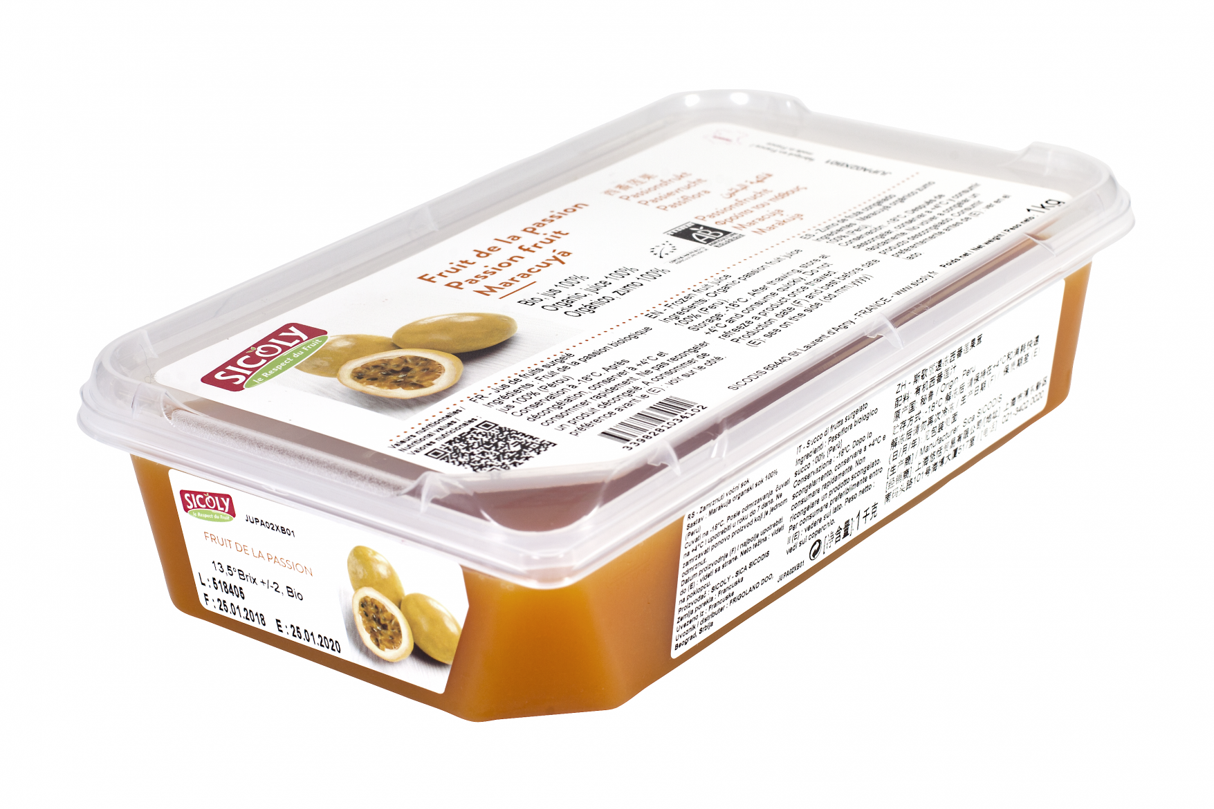 Sicoly product image Unsweetened organic passion fruit purée