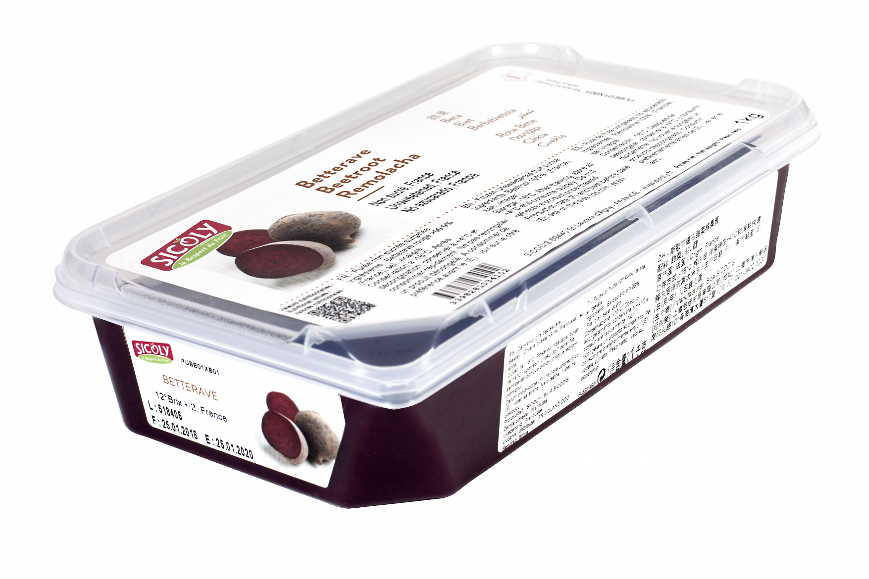 Sicoly product image No added sugar frozen beetroot purée (France)
