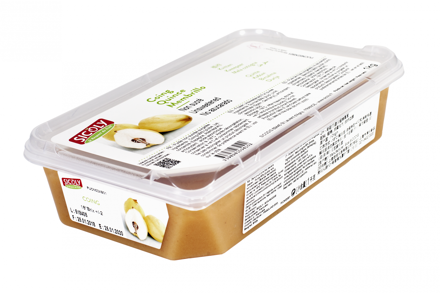 Sicoly product image No added sugar frozen quince purée