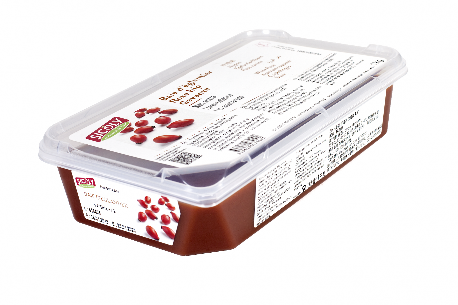 Sicoly product image SICOLY® no added sugar frozen rosehip purée