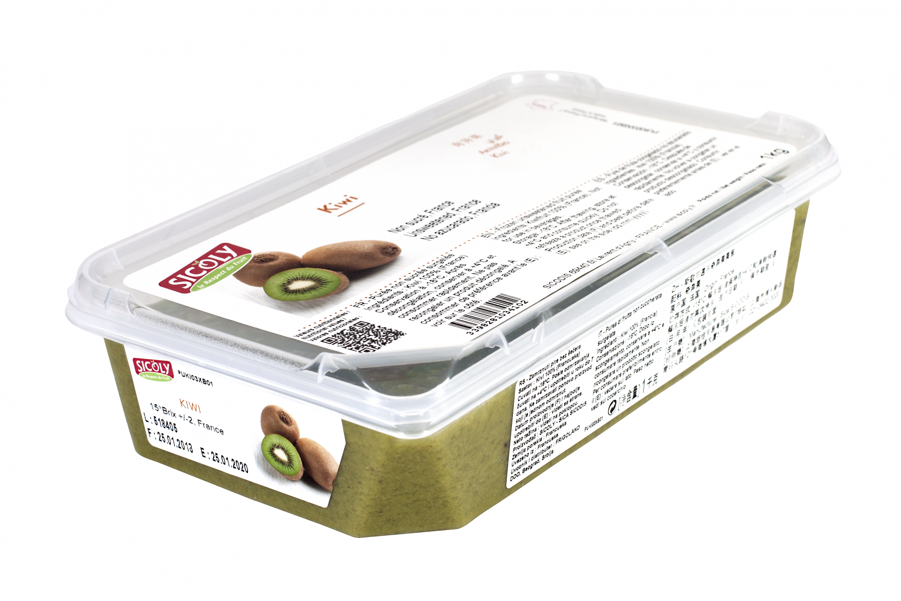 Sicoly product image No added sugar frozen kiwi purée - France