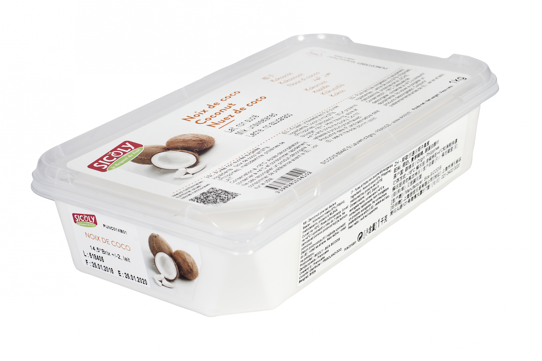 Sicoly product image No added sugar frozen coconut milk