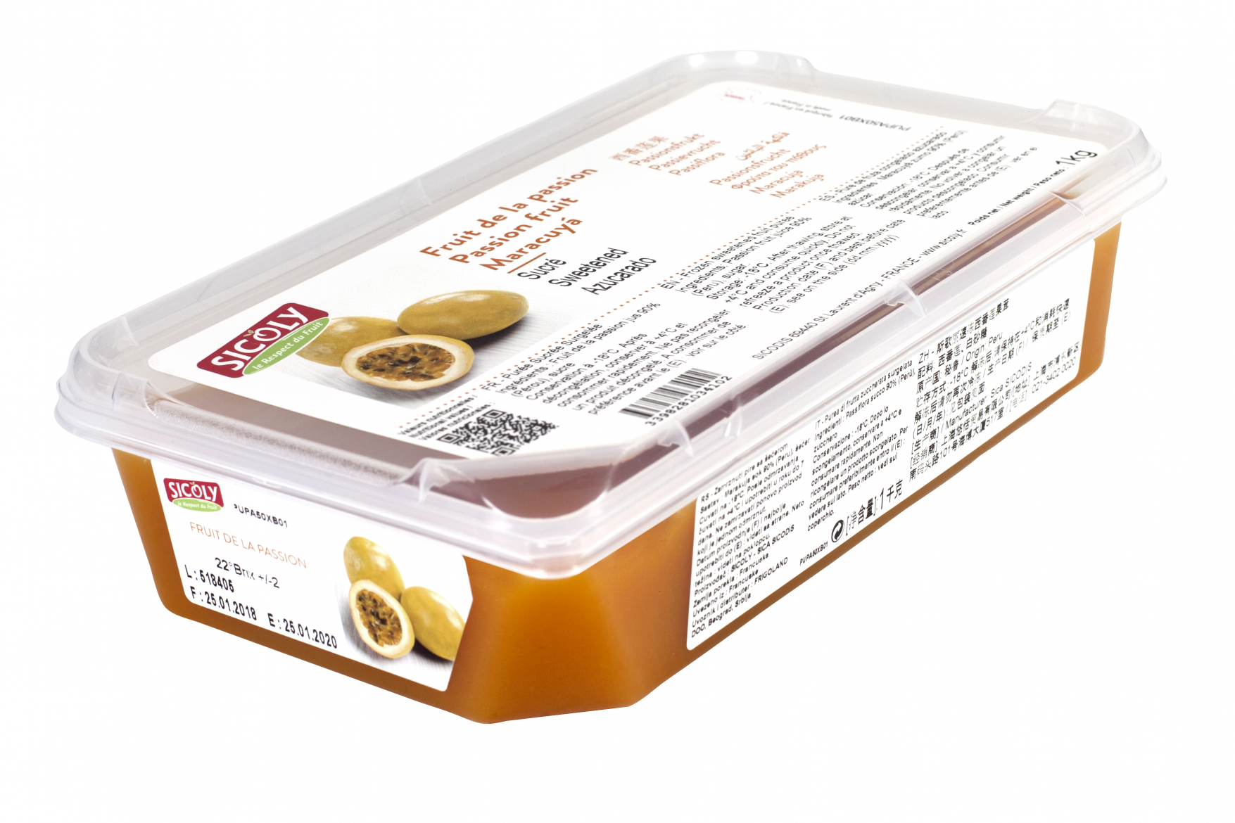 Sicoly product image Sweetened passion fruit purée