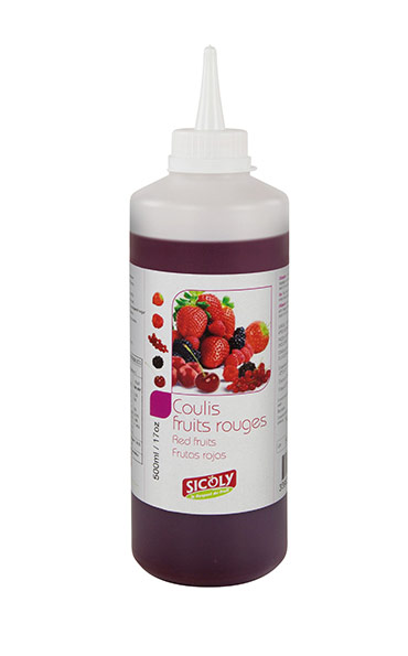 Frozen red fruit coulis sicoly red fruit coulis supplier for Fruit coulis