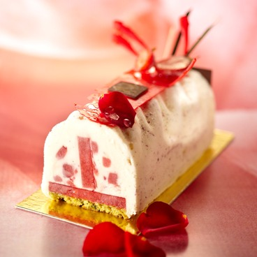 Strawberry & lychee iced log 10 log bases Jean-Jacques BORNE
